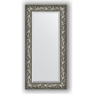 Зеркало с фацетом в багетной раме поворотное Evoform Exclusive 59x119 см, византия серебро 99 мм (BY 3494) зеркало с фацетом в багетной раме поворотное evoform exclusive 59x119 см травленое золото 99 мм by 3496