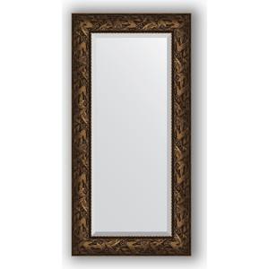 Зеркало с фацетом в багетной раме поворотное Evoform Exclusive 59x119 см, византия бронза 99 мм (BY 3495)