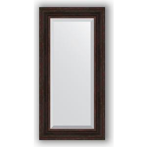 Зеркало с фацетом в багетной раме поворотное Evoform Exclusive 59x119 см, темный прованс 99 мм (BY 3499)