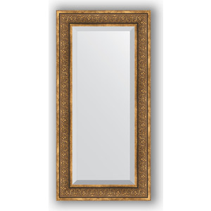 Зеркало с фацетом в багетной раме поворотное Evoform Exclusive 59x119 см, вензель бронзовый 101 мм (BY 3500)