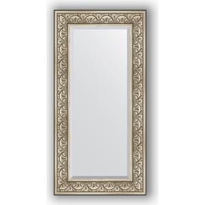 Зеркало с фацетом в багетной раме поворотное Evoform Exclusive 60x120 см, барокко серебро 106 мм (BY 3502) зеркало с фацетом в багетной раме поворотное evoform exclusive 65x150 см барокко серебро 106 мм by 3554
