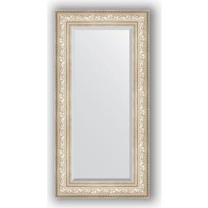 Зеркало с фацетом в багетной раме поворотное Evoform Exclusive 60x120 см, виньетка серебро 109 мм (BY 3504) зеркало с фацетом в багетной раме поворотное evoform exclusive 80x170 см виньетка серебро 109 мм by 3608