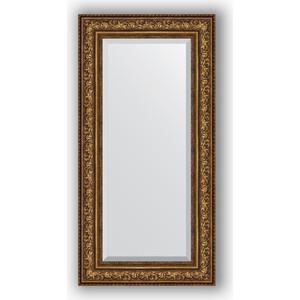 Зеркало с фацетом в багетной раме поворотное Evoform Exclusive 60x120 см, виньетка состаренная бронза 109 мм (BY 3505) зеркало с фацетом в багетной раме поворотное evoform exclusive 80x170 см виньетка серебро 109 мм by 3608