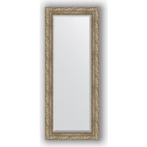 Зеркало с фацетом в багетной раме поворотное Evoform Exclusive 55x135 см, виньетка античное серебро 85 мм (BY 3513)