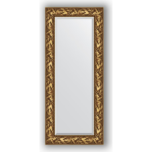Зеркало с фацетом в багетной раме поворотное Evoform Exclusive 59x139 см, византия золото 99 мм (BY 3519)