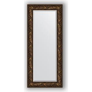 Зеркало с фацетом в багетной раме поворотное Evoform Exclusive 59x139 см, византия бронза 99 мм (BY 3521)