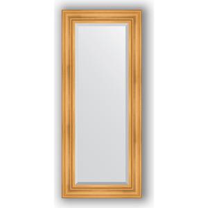 Зеркало с фацетом в багетной раме поворотное Evoform Exclusive 59x139 см, травленое золото 99 мм (BY 3522)