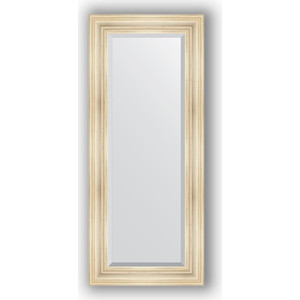 Зеркало с фацетом в багетной раме поворотное Evoform Exclusive 59x139 см, травленое серебро 99 мм (BY 3523) зеркало с фацетом в багетной раме поворотное evoform exclusive 59x139 см византия золото 99 мм by 3519