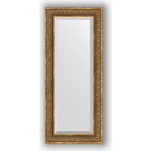 Зеркало с фацетом в багетной раме поворотное Evoform Exclusive 59x139 см, вензель бронзовый 101 мм (BY 3526)