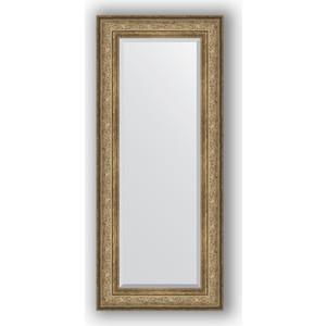Зеркало с фацетом в багетной раме поворотное Evoform Exclusive 60x140 см, виньетка античная бронза 109 мм (BY 3529) зеркало с фацетом в багетной раме поворотное evoform exclusive 80x170 см виньетка серебро 109 мм by 3608