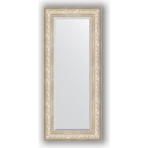 Зеркало с фацетом в багетной раме поворотное Evoform Exclusive 60x140 см, виньетка серебро 109 мм (BY 3530) зеркало с фацетом в багетной раме поворотное evoform exclusive 80x170 см виньетка серебро 109 мм by 3608