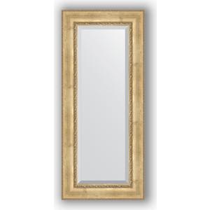 Зеркало с фацетом в багетной раме поворотное Evoform Exclusive 62x142 см, состаренное серебро с орнаментом 120 мм (BY 3532) фото