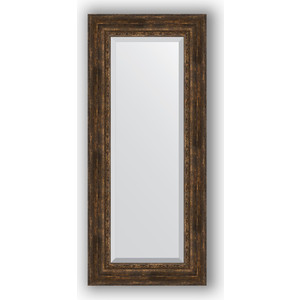 Зеркало с фацетом в багетной раме поворотное Evoform Exclusive 62x142 см, состаренное дерево с орнаментом 120 мм (BY 3534) фото