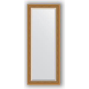 цены Зеркало с фацетом в багетной раме поворотное Evoform Exclusive 58x143 см, состаренное золото с плетением 70 мм (BY 3535)
