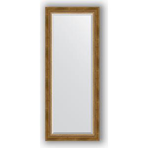 Зеркало с фацетом в багетной раме поворотное Evoform Exclusive 58x143 см, состаренное бронза плетением 70 мм (BY 3536)