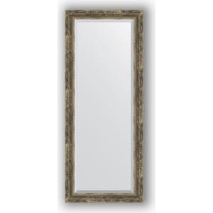 Зеркало с фацетом в багетной раме поворотное Evoform Exclusive 58x143 см, старое дерево плетением 70 мм (BY 3538)