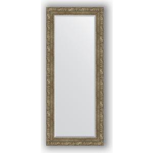 Зеркало с фацетом в багетной раме поворотное Evoform Exclusive 60x145 см, виньетка античная латунь 85 мм (BY 3541) зеркало с фацетом в багетной раме поворотное evoform exclusive 115x175 см виньетка античная латунь 85 мм by 3619