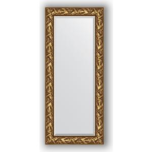 Зеркало с фацетом в багетной раме поворотное Evoform Exclusive 64x149 см, византия золото 99 мм (BY 3545)