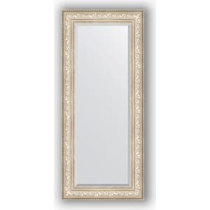 Зеркало с фацетом в багетной раме поворотное Evoform Exclusive 65x150 см, виньетка серебро 109 мм (BY 3556) зеркало с фацетом в багетной раме поворотное evoform exclusive 80x170 см виньетка серебро 109 мм by 3608