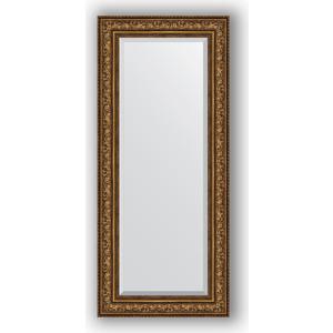 Зеркало с фацетом в багетной раме поворотное Evoform Exclusive 65x150 см, виньетка состаренная бронза 109 мм (BY 3557) зеркало с фацетом в багетной раме поворотное evoform exclusive 80x170 см виньетка серебро 109 мм by 3608