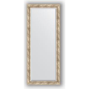 Зеркало с фацетом в багетной раме поворотное Evoform Exclusive 63x153 см, прованс плетением 70 мм (BY 3563)