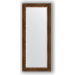 Зеркало с фацетом в багетной раме поворотное Evoform Exclusive 66x156 см, римская бронза 88 мм (BY 3569)