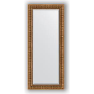 Зеркало с фацетом в багетной раме поворотное Evoform Exclusive 67x157 см, бронзовый акведук 93 мм (BY 3570) зеркало с фацетом в багетной раме поворотное evoform exclusive 67x157 см серебряный акведук 93 мм by 1288