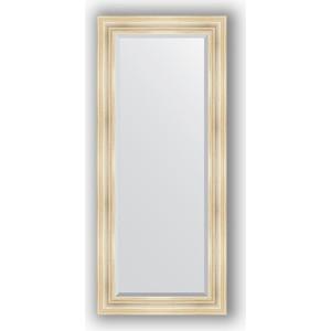 Зеркало с фацетом в багетной раме поворотное Evoform Exclusive 69x159 см, травленое серебро 99 мм (BY 3575) зеркало с фацетом в багетной раме поворотное evoform exclusive 80x170 см виньетка серебро 109 мм by 3608