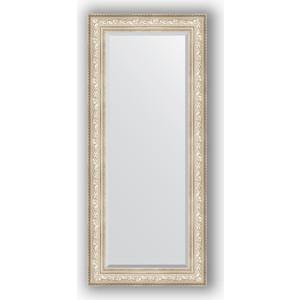 Зеркало с фацетом в багетной раме поворотное Evoform Exclusive 70x160 см, виньетка серебро 109 мм (BY 3582) зеркало с фацетом в багетной раме поворотное evoform exclusive 80x170 см виньетка серебро 109 мм by 3608