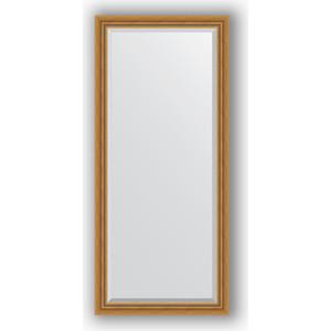 Зеркало с фацетом в багетной раме поворотное Evoform Exclusive 73x163 см, состаренное золото плетением 70 мм (BY 3587)