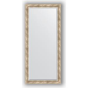 Зеркало с фацетом в багетной раме поворотное Evoform Exclusive 73x163 см, прованс плетением 70 мм (BY 3589)