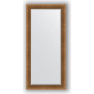 Зеркало с фацетом в багетной раме поворотное Evoform Exclusive 77x167 см, бронзовый акведук 93 мм (BY 3596)