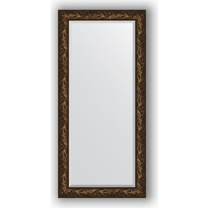 цена на Зеркало с фацетом в багетной раме поворотное Evoform Exclusive 79x169 см, византия бронза 99 мм (BY 3599)
