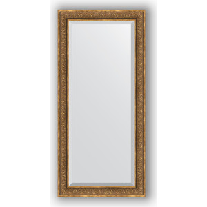Зеркало с фацетом в багетной раме поворотное Evoform Exclusive 79x169 см, вензель бронзовый 101 мм (BY 3604)