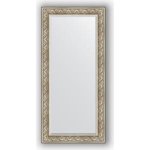 Зеркало с фацетом в багетной раме поворотное Evoform Exclusive 80x170 см, барокко серебро 106 мм (BY 3606) зеркало с фацетом в багетной раме поворотное evoform exclusive 80x170 см виньетка серебро 109 мм by 3608