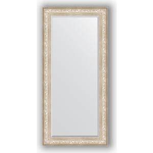 Зеркало с фацетом в багетной раме поворотное Evoform Exclusive 80x170 см, виньетка серебро 109 мм (BY 3608) зеркало с фацетом в багетной раме поворотное evoform exclusive 80x170 см виньетка серебро 109 мм by 3608