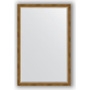 Зеркало с фацетом в багетной раме поворотное Evoform Exclusive 113x173 см, состаренное бронза с плетением 70 мм (BY 3614) зеркало evoform exclusive 133х53 состаренное бронза с плетением