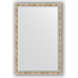 Зеркало с фацетом в багетной раме поворотное Evoform Exclusive 113x173 см, прованс плетением 70 мм (BY 3615)