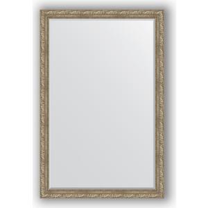 Зеркало с фацетом в багетной раме поворотное Evoform Exclusive 115x175 см, виньетка античное серебро 85 мм (BY 3617)