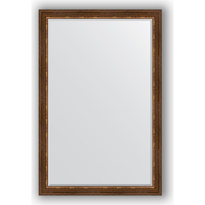 Зеркало с фацетом в багетной раме поворотное Evoform Exclusive 116x176 см, римская бронза 88 мм (BY 3621)