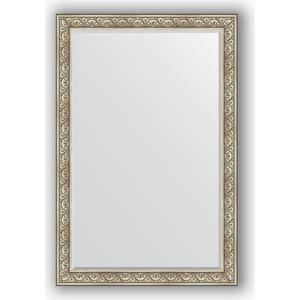 Зеркало с фацетом в багетной раме поворотное Evoform Exclusive 120x180 см, барокко серебро 106 мм (BY 3632) зеркало с фацетом в багетной раме поворотное evoform exclusive 65x150 см барокко серебро 106 мм by 3554