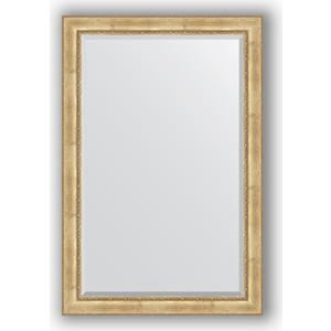 Зеркало с фацетом в багетной раме поворотное Evoform Exclusive 122x182 см, состаренное серебро орнаментом 120 мм (BY 3636)