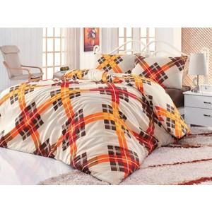 Комплект постельного белья Cotton Life 1,5 сп Smart коричневый (6120)