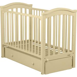 Кроватка Fiorellino Slovenia маятник продольный 120х60 ivory