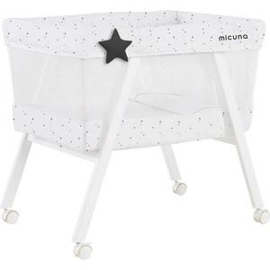Колыбель Micuna Mini Fresh с текстилем МО-1560 white/stars