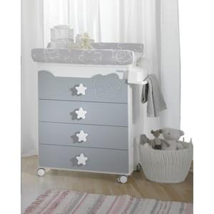 Комод Micuna Dolce Luce пеленальный B-1673 white/grey цена и фото