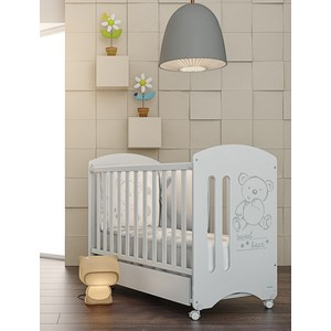 Кроватка Micuna Sweet Bear 120х60 white с матрацем CH-620