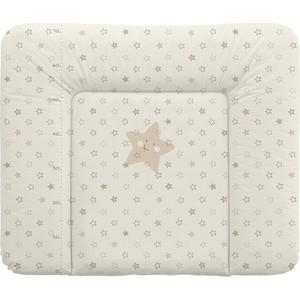 Матраc пеленальный Ceba Baby 70*85 см мягкий на комод Stars beige W-134-066-111
