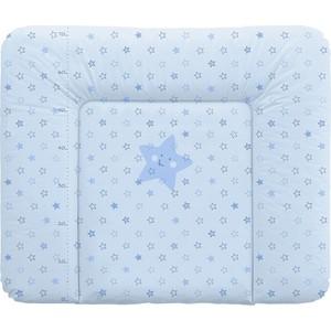 Матраc пеленальный Ceba Baby 70*85 см мягкий на комод Stars blue W-134-066-160 постельное белье ceba baby 3 пр stars blue вышивка w 806 066 160