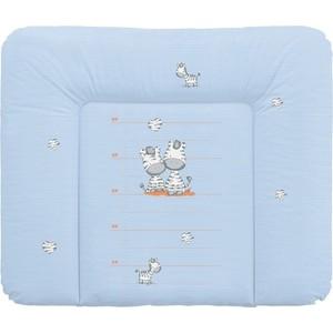 Матраc пеленальный Ceba Baby 70*85 см мягкий на комод Zebra blue W-134-002-160 одеяло конверт ceba baby magic tree blue принт w 810 072 160 э0000016393